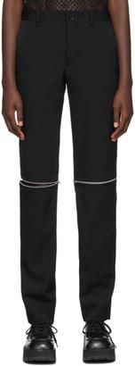 Comme des Garçons Homme Plus Black Knee Zip Trousers