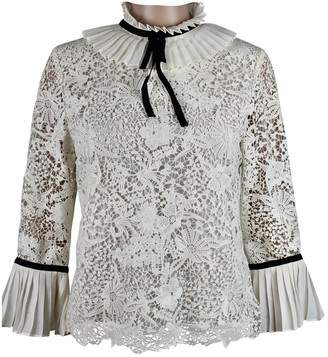 Erdem X H&m Ecru Top for Women