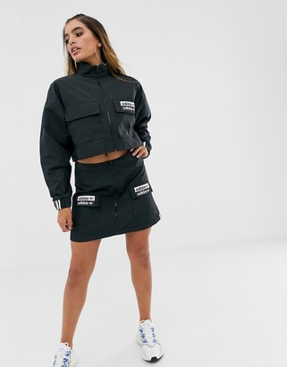 adidas ryv patch pocket skirt in black