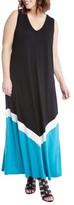 Karen Kane Plus Size Women's Colorblock Maxi Dress