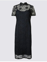 M&S Collection Floral Lace Short Sleeve Bodycon Dress