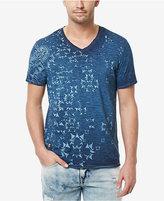 Buffalo David Bitton Men's Titree Graphic-Print Destroyed Cotton V-Neck T-Shirt