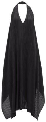 Pleats Please Issey Miyake Echo Halterneck Technical-pleated Dress - Black