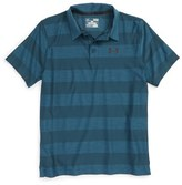 Under Armour Boy's 'Composite Stripe' Heatgear Polo