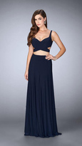 La Femme Sultry Sleeveless Sweetheart Jersey Dress 23986