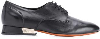 Santoni Metallic Heel Detail Oxford Shoes