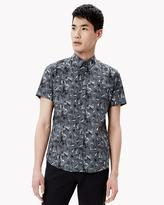 Theory Cotton Print Vented Sleeve Shirt