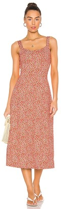 Free People Lorelai Printed Midi Dress