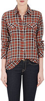 "Current/Elliott WOMEN'S ""PERFECT"" PLAID COTTON-BLEND SHIRT"