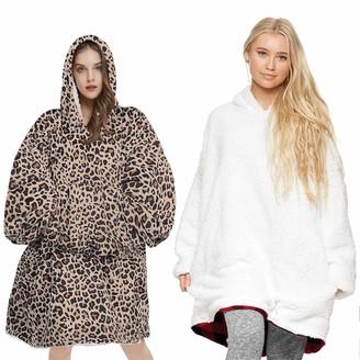 Willtop Unisex Oversized Wearable Hoodie Blanket Sweatshirt with Front Giant Pocket