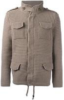 Bark high neck textured jacket