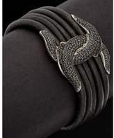 Scott Kay Guardian Silver 1.50 Ct. Tw. Spinel Leather Bracelet.