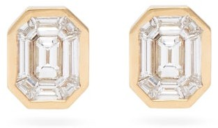 Shay Diamond & 18kt Gold Stud Earrings - Yellow Gold