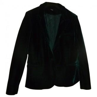 Topshop Tophop Green Velvet Jacket for Women