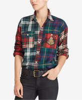 Polo Ralph Lauren Bullion Plaid Cotton Boyfriend Shirt