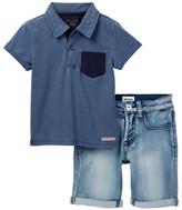 Hudson Short Sleeve Top & Short Set (Toddler Boys)