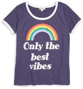 Ten Sixty Sherman Girl's Rainbow Ringer Tee
