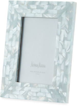 """Mother of Pearl The Jws Collections Mother-of-Pearl Picture Frame, Blue, 4"""" x 6"""""""