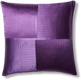 Kumi Kookoon French Pleat Silk Euro Pillow Sham, Iris