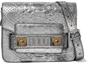 Proenza Schouler Ps11 Metallic Snake-effect Leather Shoulder Bag