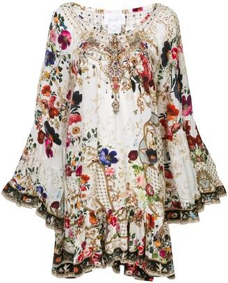 Camilla Fairy Godmother-print silk dress