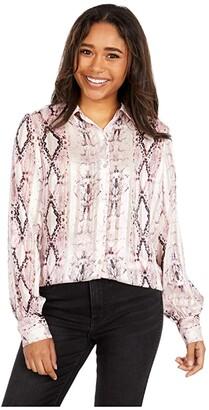 KUT from the Kloth Sam Blouse (Cream/Rose) Women's Clothing