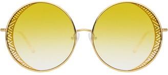 Linda Farrow Zigzag Round Sunglasses