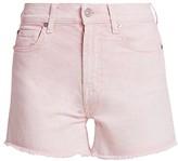 7 For All Mankind High-Rise Cut-Off Fray Hem Denim Shorts