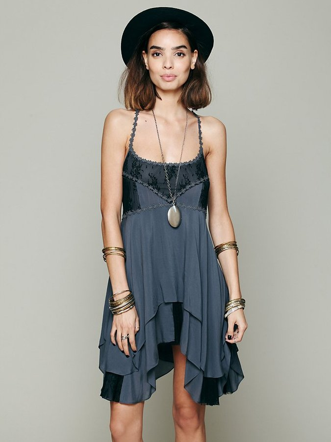 Free People Pieced Lace Tunic