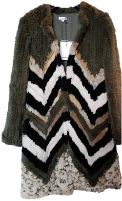 Manoush Green Rabbit Coat for Women