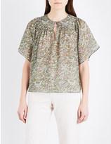 Vanessa Bruno Glory floral silk-chiffon blouse