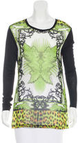 Just Cavalli Abstract Print Long Sleeve Top
