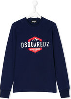 DSQUARED2 teen logo print sweatshirt - kids - Cotton - 14 yrs