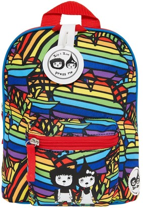 "Babymel Zip & Zoe Mini 10"" Kid' Backpack & afety Harne - Rainbow"