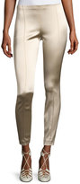 The Row Cosso Skinny Satin Ankle Pants