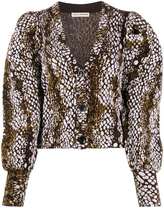 Ulla Johnson python-print Juliet sleeved blouse