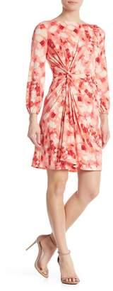 London Times Side Twist A-Line Dress