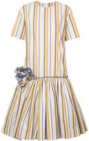 Julien David striped flared dress