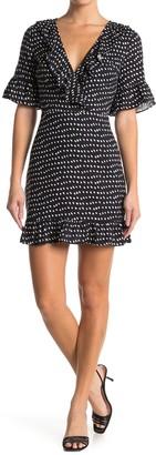Lost + Wander Ariana Polka Dot Ruffle Dress