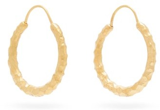 All Blues Hungry Snake Gold-vermeil Hoop Earrings - Gold
