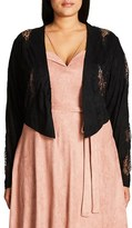 City Chic Plus Size Women's Lace Crop Jacket