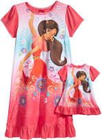 Disney Disney's Princess Elena of Avalor Nightgown with Doll Nightgown, Little Girls & Big Girls