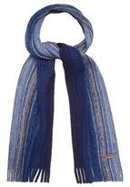 Mantaray Blue Striped Chunky Knit Scarf