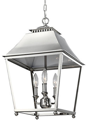 Feiss Galloway Pendant - Polished Nickel