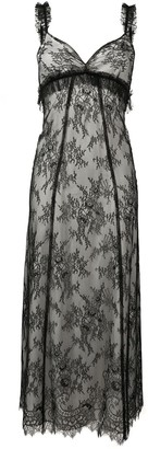 ALEXACHUNG Lace Midi Dress