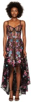 Marchesa Embroidered Tulle High-Low Gown w/ Corset Bodice Women's Dress