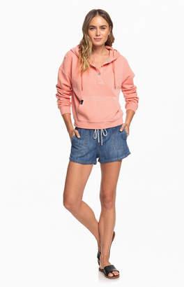 Roxy Peach Girls Who Slide Fleece Sweatshirt