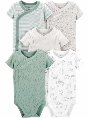 Simple Joys by Carter's Baby 5-Pack Short Sleeve Side Snap Bodysuit