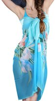 HERRICO Women Beach Wrap Sarong Pareo Cover up Swimwear Bikini Pattern Chiffon Shawl Scarf
