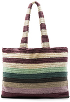 Mara Hoffman Crochet Beach Tote in Purple.
